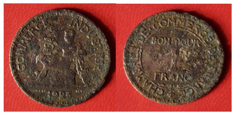 Bon pour 1 franc chambre du commerce 1925 for Bon pour 1 franc chambre de commerce